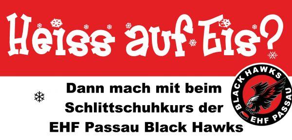 Heiß auf Eis? Kinder-Schlittschuhkurs des EHF Passau Black Hawks e. V.