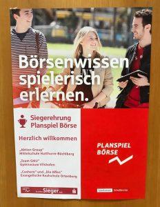 Siegerehrung Planspiel Börse 2017