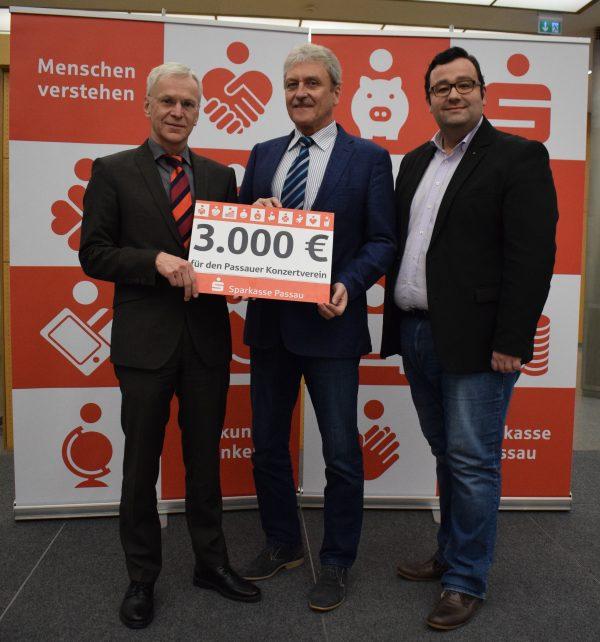 3.000 € für den Passauer Konzertverein im Jubiläumsjahr