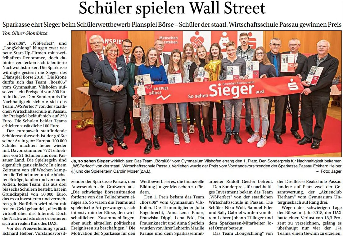 Planspiel Börse 2019