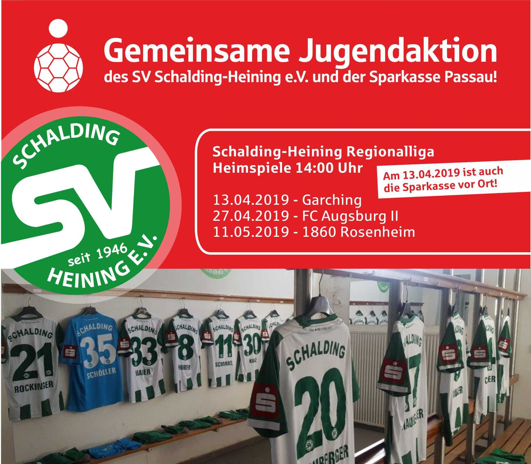 Sparkasse Passau - Trikot des SV Schalding-Heining e.V.