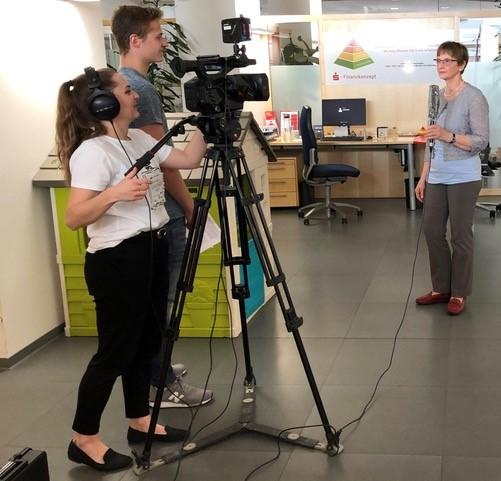 Sparkasse Passau - Niederbayern TV im Kundenzentrum Ludwigstrasse