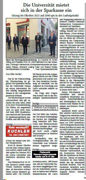 Sparkasse Passau - Ankermieter Universität