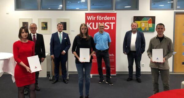 Preisträger Junge Kunst in der Sparkasse Passau ausgezeichnet
