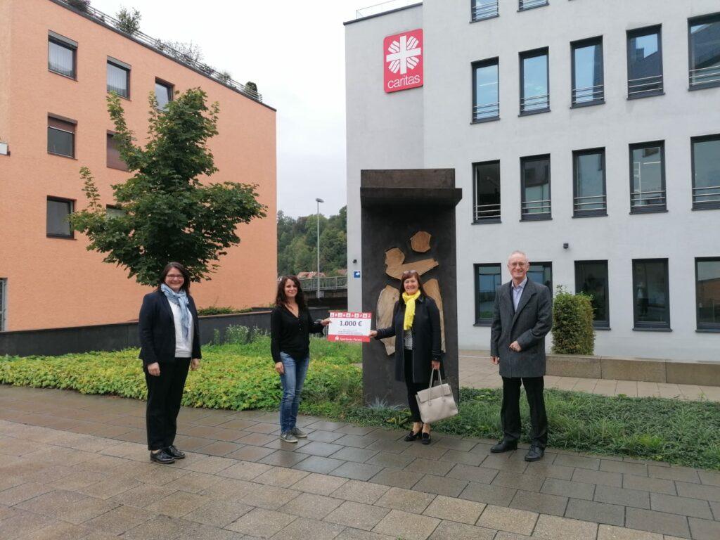 Sparkasse Passau - Spendenübergabe Caritas