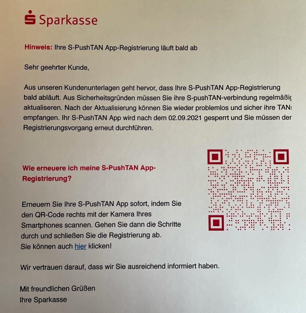 Sparkasse Passau - Phishing