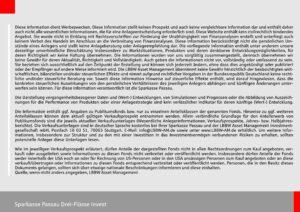 Disclaimer zum Sparkasse Passau Drei-Flüsse Invest