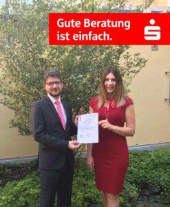 Sparkasse Passau - Verena Kramer ausgezeichnet