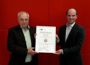 Wir sind sehr stolz auf die Zertifizierung, die in Niederbayern somit erst zum dritten Mal erreicht wurde.
