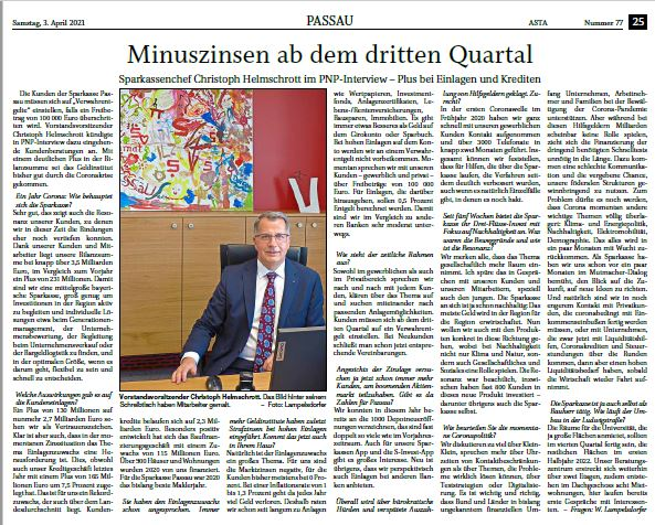 Sparkasse Passau Vorstand im PNP-Interview