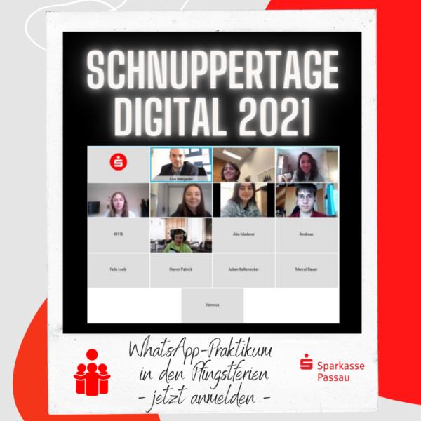 Sparkasse Passau Praktikant:innen schnuppern digital