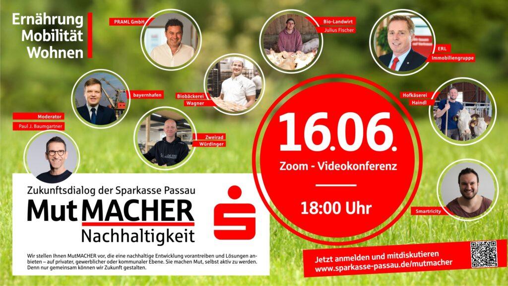 Sparkasse Passau Zukunftsdialog MutMACHER Nachhaltigkeit