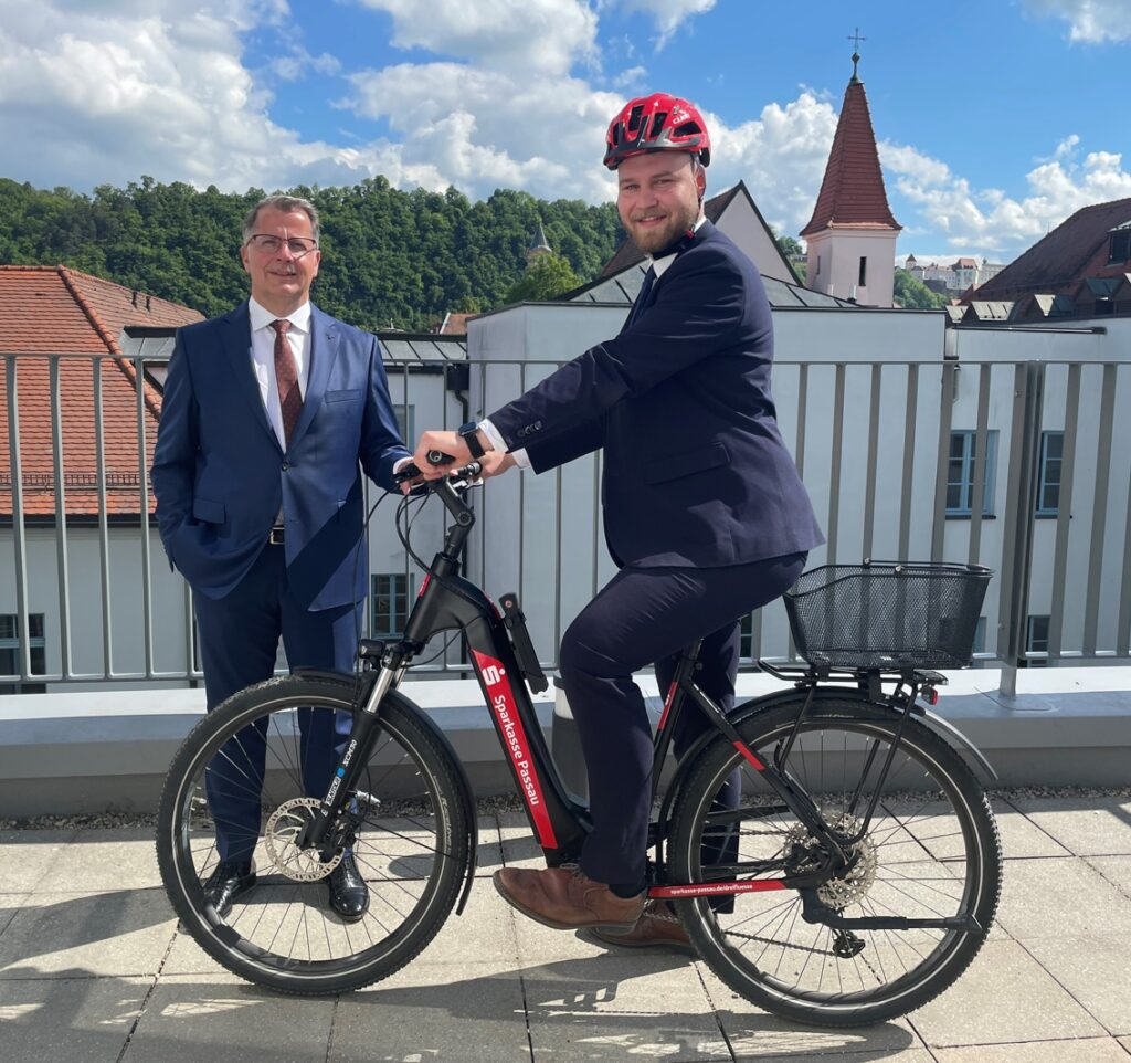Sparkasse Passau mit erstem E-Bike
