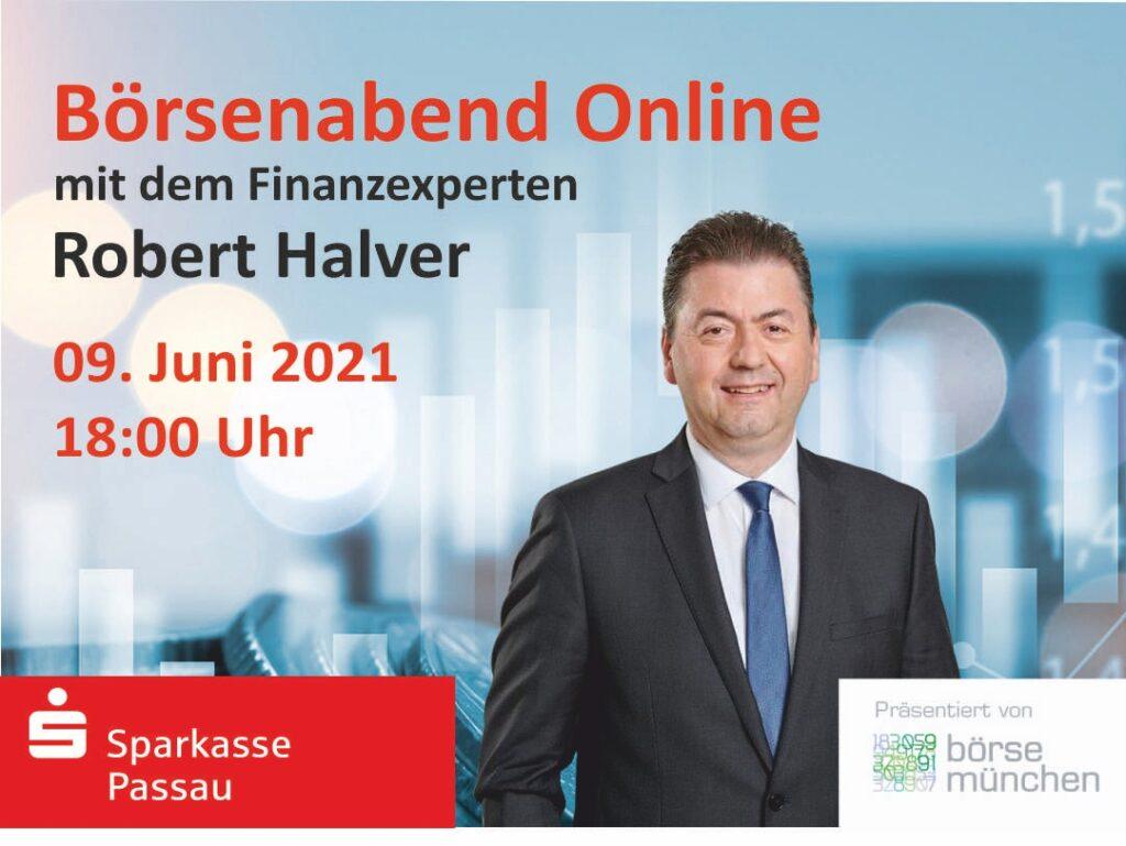 Online-Börsenabend mit Kapitalmarkt- und Börsenexperte Robert Halver