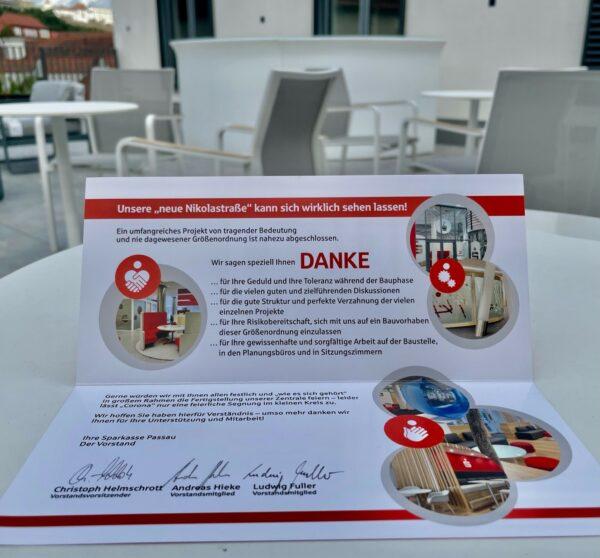 Unsere neue Nikolastrasse – Zentrale der Sparkasse Passau