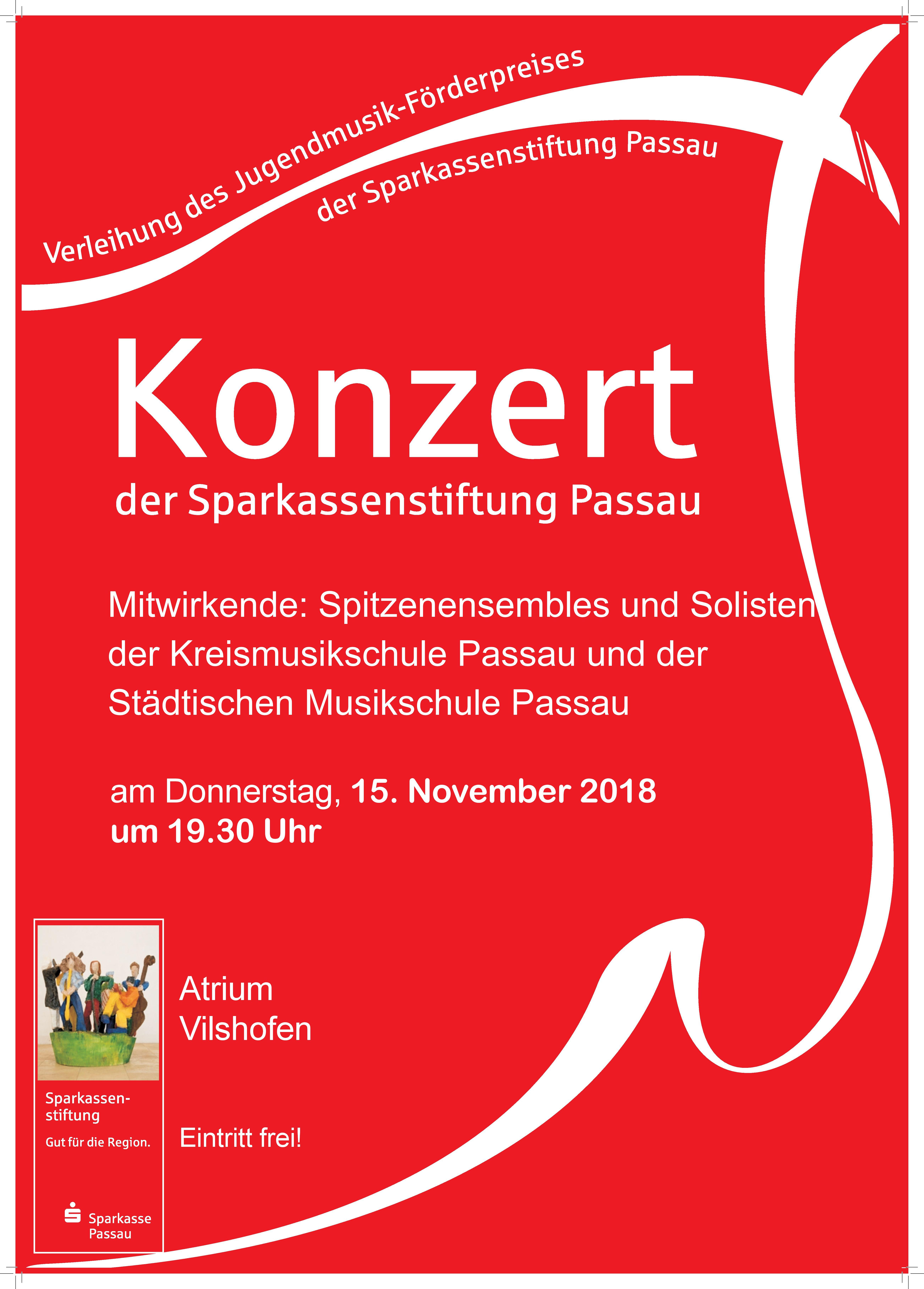 Einladung zum Konzert der Sparkassenstiftung Passau