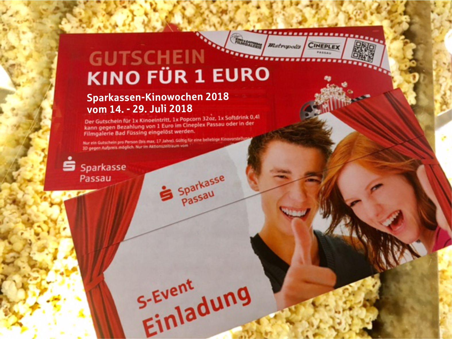 Mit dem Jugendgirokonto zu den Sparkassen-Kinowochen 2018