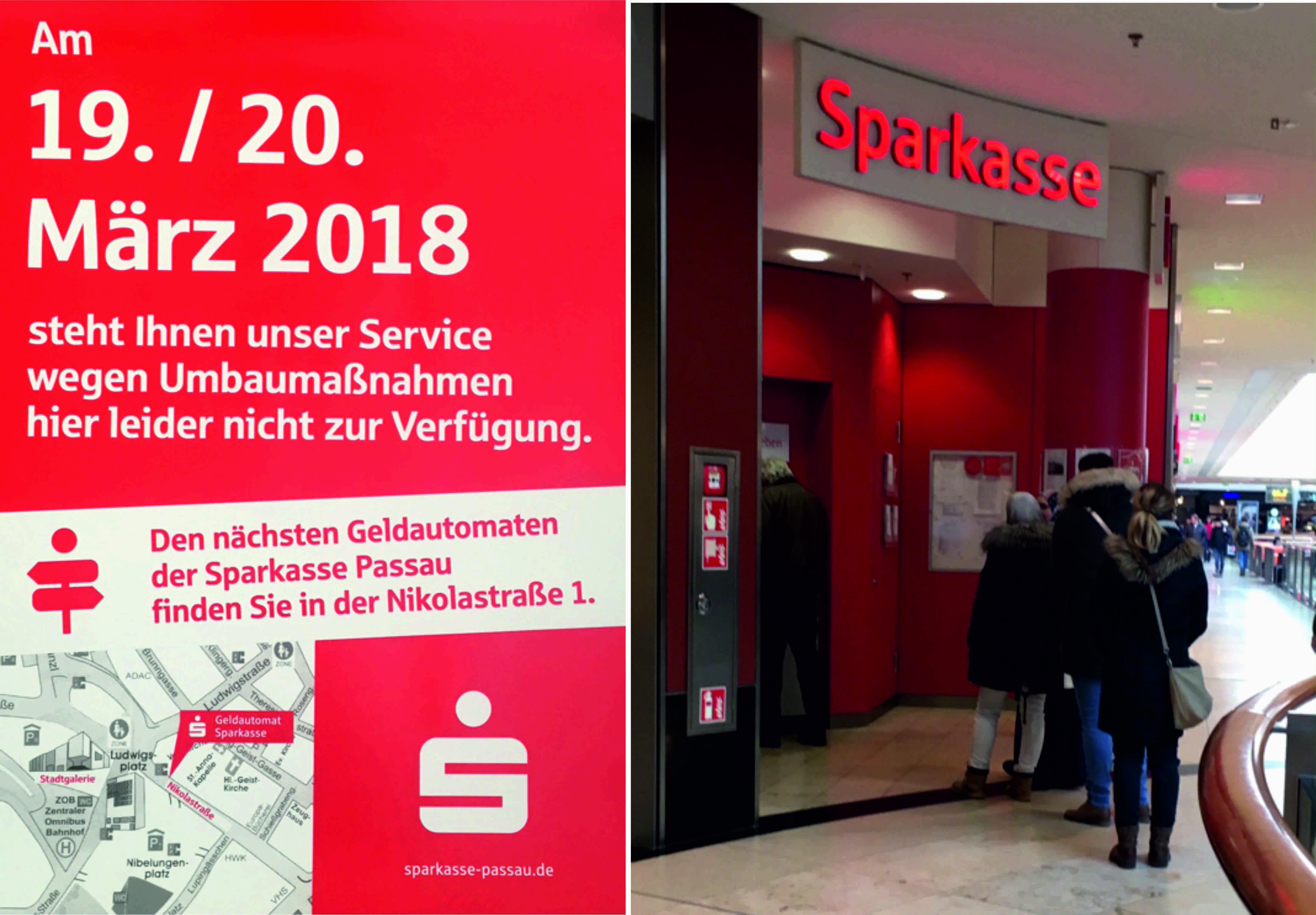 Sparkasse installiert zweiten Geldautomaten in der Stadtgalerie